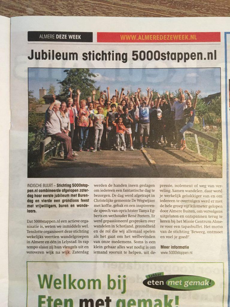 Jubileum Stichting 5000stappen.nl